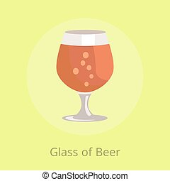 Beers Snifter in Transparent Glassware Vector - Glass of...