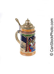 Beerstein - smalll traditional beer stein with pclosed...