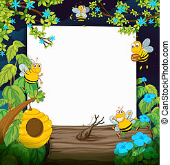 Bees and a white board