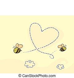 bee\'s, corazón