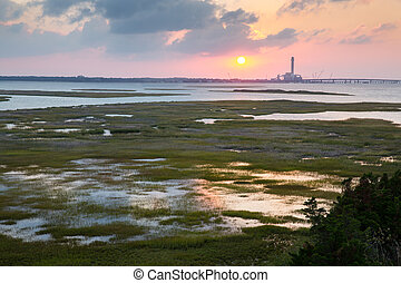 Beesleys Pt NJ - Beesleys point looking from 9thst bridge in...