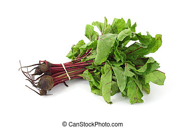 Beet greens with small beets - Several beet greens with...