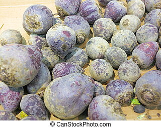 beet root in supermarket
