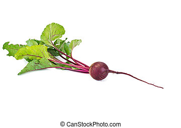 Beet - Garden plant beet it is isolated on a white...