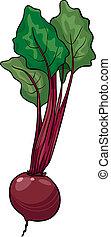 Cartoon Illustration of Beet Vegetable Food Object