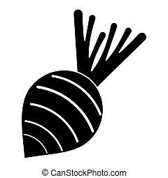 beet vegetable nutrition pictogram vector illustration eps...