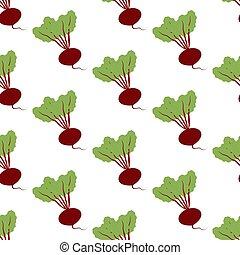 Beet Vegetable pattern