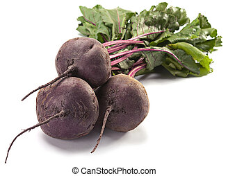Beet with leaf