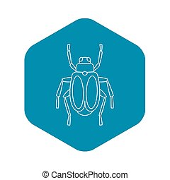 Beetle bug icon, outline style