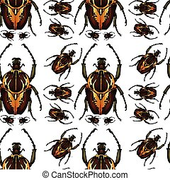 Beetle bug seamless pattern