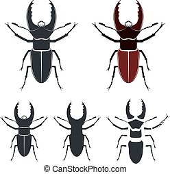 Beetle deer, vector illustration