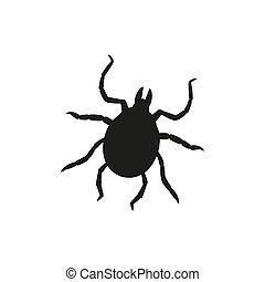Beetle tick in trendy flat style isolated. Stock Vector illustration