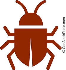 Beetle vector icon isolated on white background