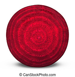 beetroot - Beetroot sliced on white background. Clipping...
