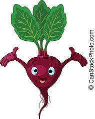 Beetroot Presenting Something - Cartoon cute beetroot ...
