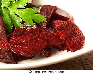 Beetroot salad, closeup