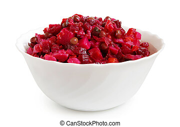 Beetroot salad in bowl