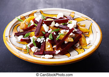 beetroot salad with cheese