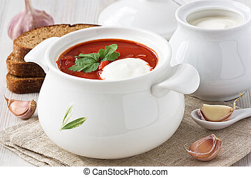 Beetroot soup borscht - Beetroot soup red borscht with sour ...
