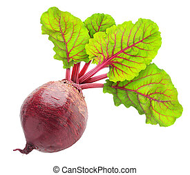 Beetroot - Fresh beetroot with leaves isolated on white