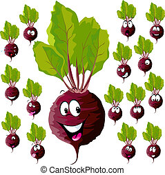 beetroot with many expressions - beetroot cartoon with many...