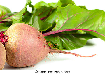 Beets with leaves