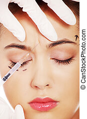 befecskendezés, botox, kozmetikai