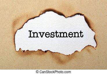 befektetés