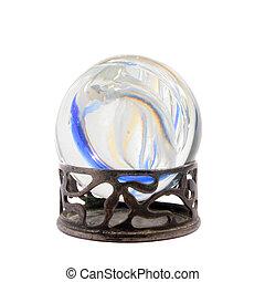 befest, alatt, egy, kristály labda