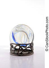 befest, alatt, kristály labda