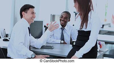 befog, közül, ügy emberek, dolgozó, alatt, hivatal