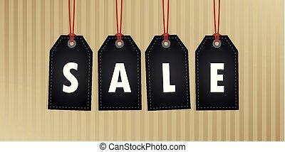 befordran, försäljning, abstrakt, papper, hängande, etikett, bakgrund