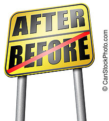 before after comparison make a change for the best do a ...