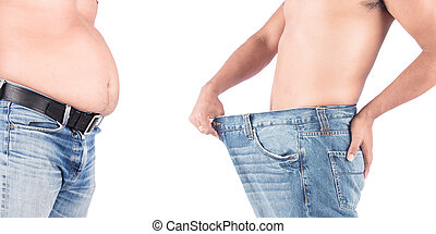 Before and after fat belly after weight loss