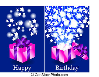 Before and after gift birthday card