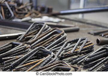 Bent Steel Bars in the Factory