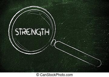 befund, glas, design, stärke, vergrößern