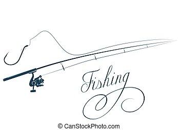 begörbít, rúd, halászat