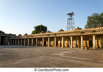 begada, mehmud, sułtan, colonnaded, historyczny, klasztor, grób