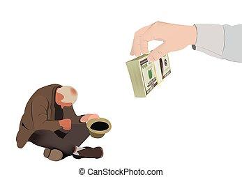 beggar support - Beggar support poverty assistance