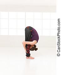 begginer, yoga, variación, postura