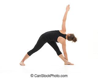 begginers, postura, yoga, difícil