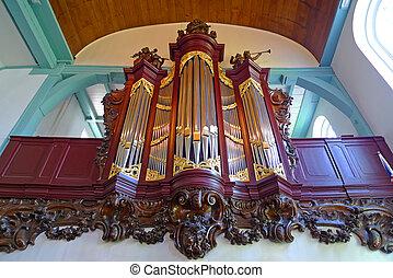 Pipe organ in Begijnhof Engelske Kerk, Amsterdam, Netherlands