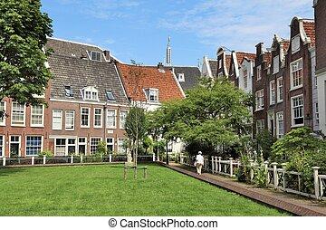 Begijnhof in Amsterdam, Netherlands