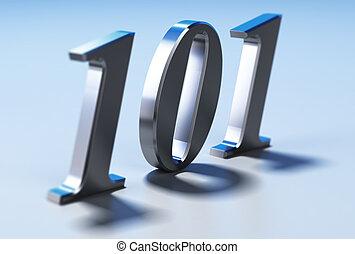 Beginner Level, 101 - Number 101 over blue background. ...