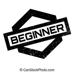 Beginner rubber stamp. Grunge design with dust scratches....