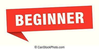 beginner speech bubble. beginner sign. beginner banner