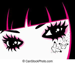 begli occhi, womanish