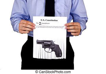 begränsningar, på, skjutvapen