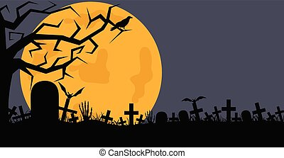 begraafplaats, illustratie